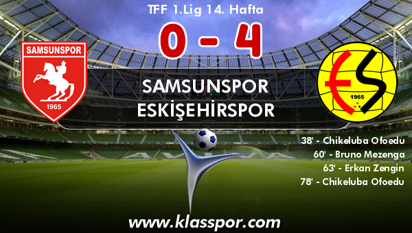Samsunspor 0 - Eskişehirspor 4