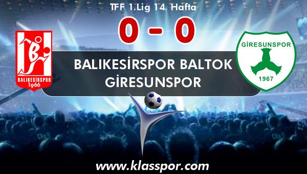 Balıkesirspor Baltok 0 - Giresunspor 0