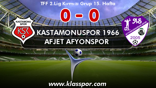 Kastamonuspor 1966 0 - Afjet Afyonspor  0
