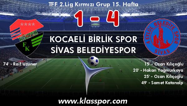 Kocaeli Birlik Spor 1 - Sivas Belediyespor 4