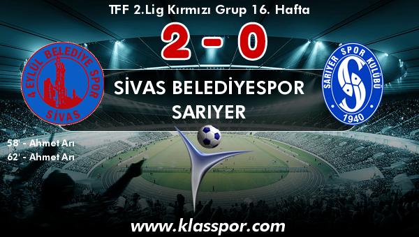 Sivas Belediyespor 2 - Sarıyer 0