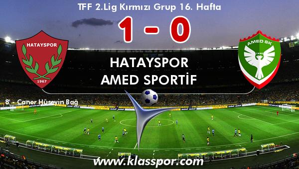 Hatayspor 1 - Amed Sportif 0
