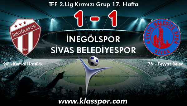 İnegölspor 1 - Sivas Belediyespor 1
