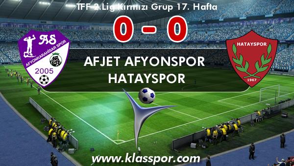 Afjet Afyonspor  0 - Hatayspor 0