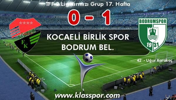 Kocaeli Birlik Spor 0 - Bodrum Bel. 1