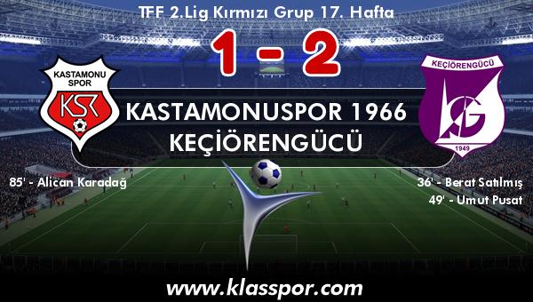 Kastamonuspor 1966 1 - Keçiörengücü 2