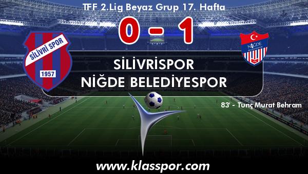 Silivrispor 0 - Niğde Belediyespor 1