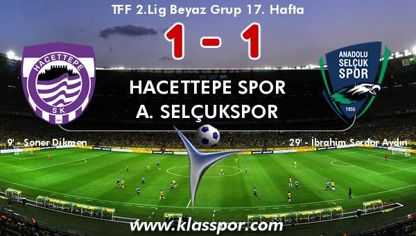 Hacettepe Spor 1 - A. Selçukspor 1