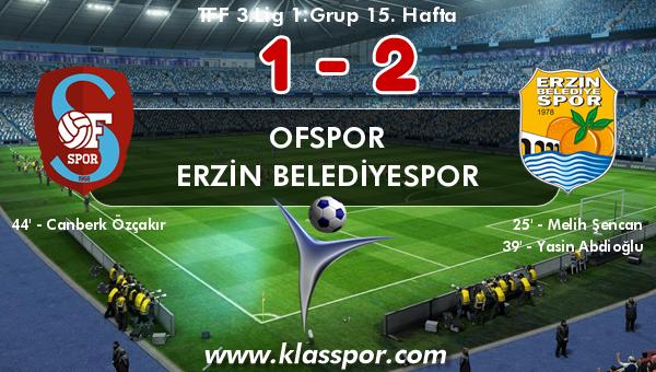Ofspor 1 - Erzin Belediyespor 2