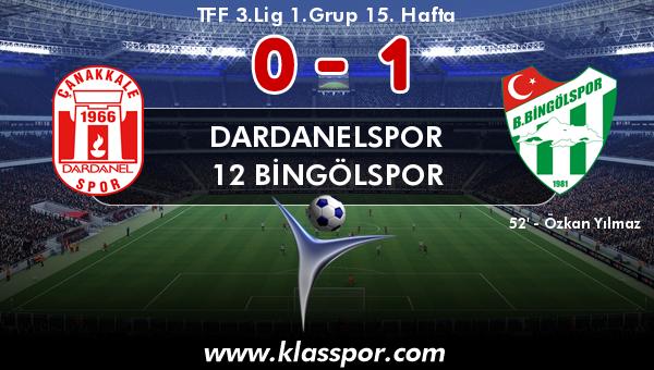 Dardanelspor 0 - 12 Bingölspor 1