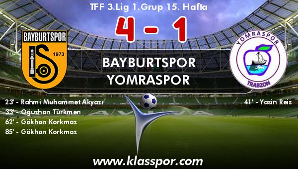 Bayburtspor 4 - Yomraspor 1