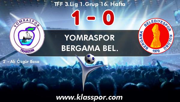 Yomraspor 1 - Bergama Bel. 0