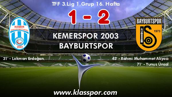 Kemerspor 2003 1 - Bayburtspor 2