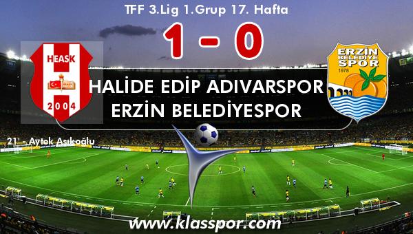 Halide Edip Adıvarspor 1 - Erzin Belediyespor 0