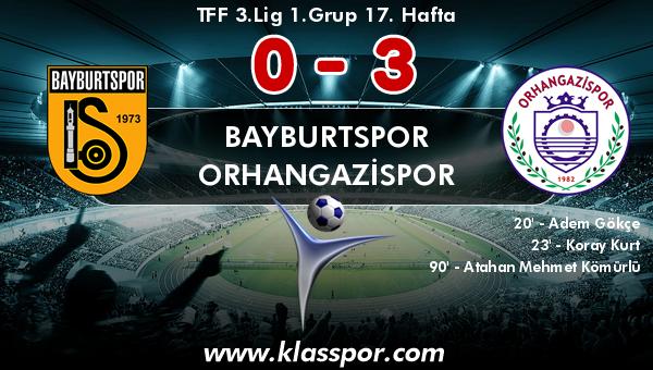 Bayburtspor 0 - Orhangazispor 3