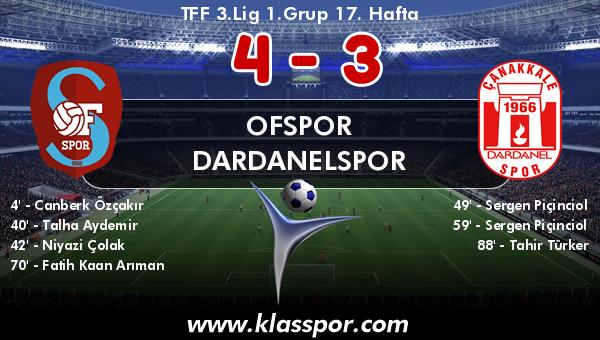Ofspor 4 - Dardanelspor 3