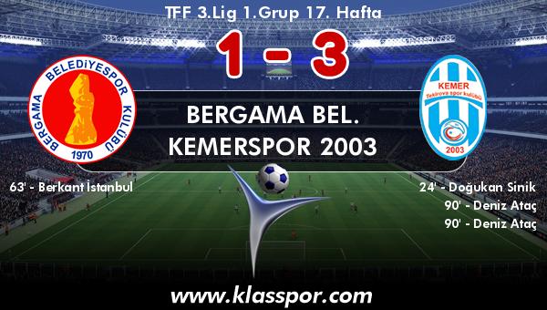 Bergama Bel. 1 - Kemerspor 2003 3