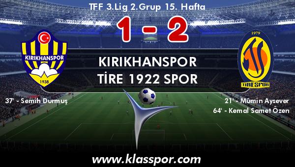 Kırıkhanspor 1 - Tire 1922 Spor 2