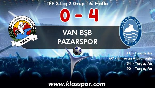 Van BŞB 0 - Pazarspor 4