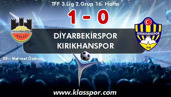 Diyarbekirspor 1 - Kırıkhanspor 0