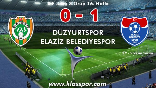 Düzyurtspor 0 - Elaziz Belediyespor 1