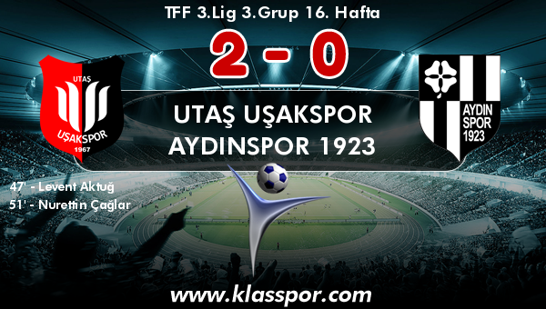 Utaş Uşakspor 2 - Aydınspor 1923 0