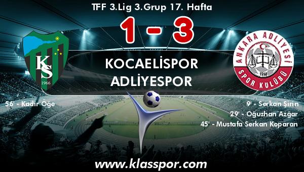 Kocaelispor 1 - Adliyespor 3