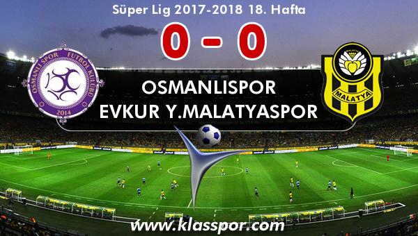 Osmanlıspor 0 - Evkur Y.Malatyaspor 0