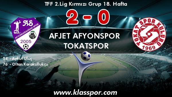 Afjet Afyonspor  2 - Tokatspor 0