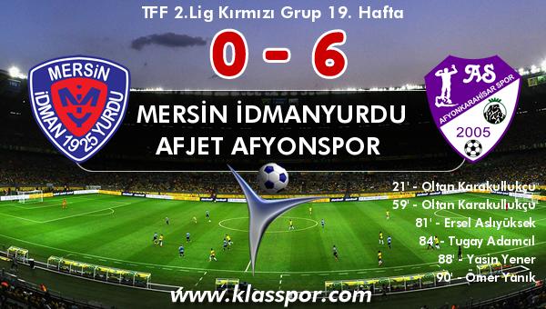 Mersin İdmanyurdu 0 - Afjet Afyonspor  6
