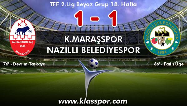 K.Maraşspor 1 - Nazilli Belediyespor 1