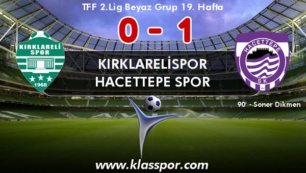 Kırklarelispor 0 - Hacettepe Spor 1