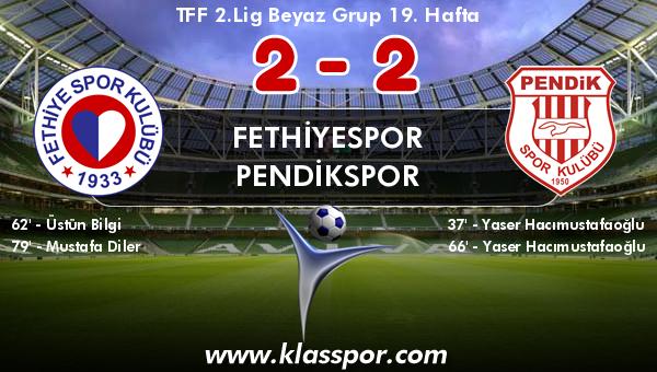 Fethiyespor 2 - Pendikspor 2