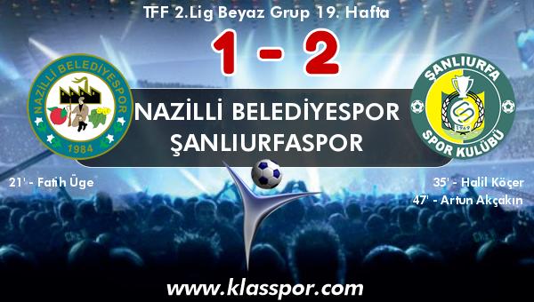 Nazilli Belediyespor 1 - Şanlıurfaspor 2