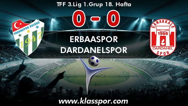 Erbaaspor 0 - Dardanelspor 0
