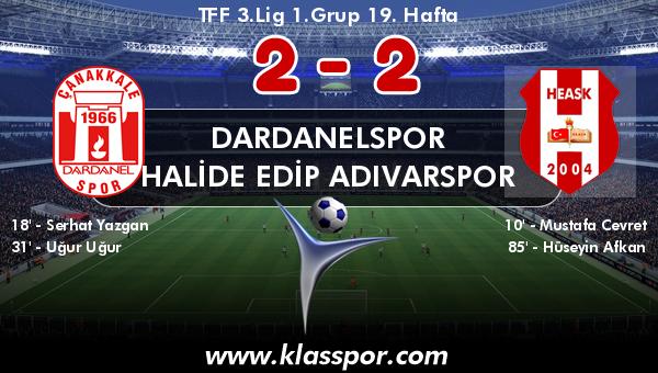 Dardanelspor 2 - Halide Edip Adıvarspor 2