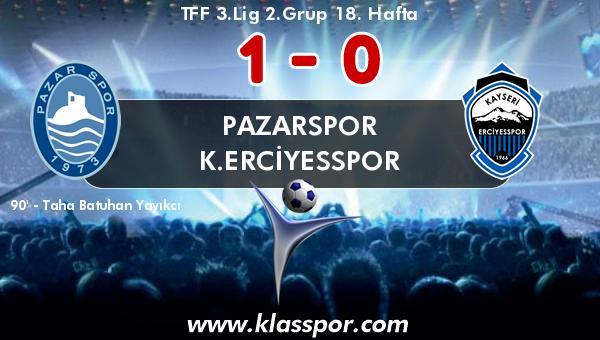 Pazarspor 1 - K.Erciyesspor 0