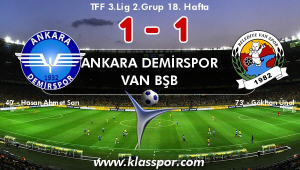 Ankara Demirspor 1 - Van BŞB 1