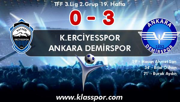 K.Erciyesspor 0 - Ankara Demirspor 3