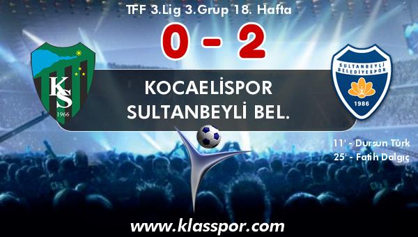 Kocaelispor 0 - Sultanbeyli Bel. 2