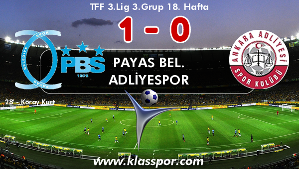 Payas Bel. 1 - Adliyespor 0