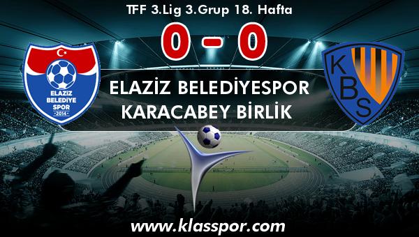 Elaziz Belediyespor 0 - Karacabey Birlik  0