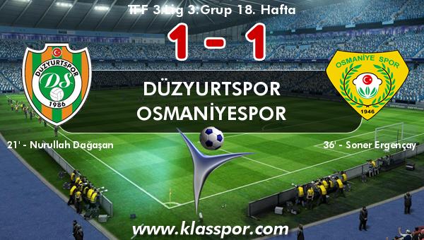 Düzyurtspor 1 - Osmaniyespor 1