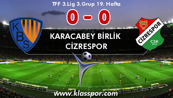 Karacabey Birlik  0 - Cizrespor 0
