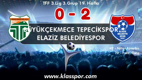 Büyükçekmece Tepecikspor 0 - Elaziz Belediyespor 2