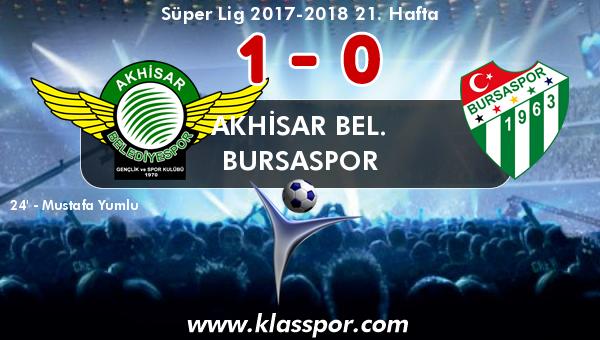 Akhisar Bel. 1 - Bursaspor 0