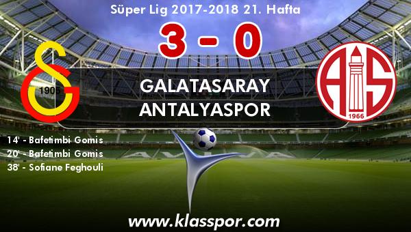 Galatasaray 3 - Antalyaspor 0