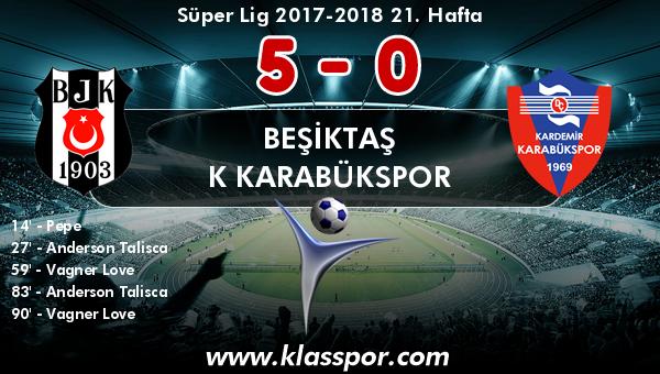 Beşiktaş 5 - K Karabükspor 0