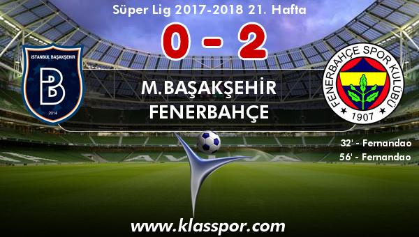 M.Başakşehir 0 - Fenerbahçe 2