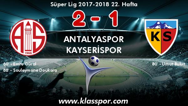 Antalyaspor 2 - Kayserispor 1